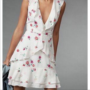 Express Dresses - NWT Express Ruffle Front Tie Waist Flare Dress 4